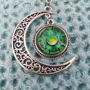 Jewelry - Triple Moon Goddess Wiccan Necklace NWT